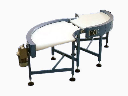 Curved Conveyor with Conical End Rollers
